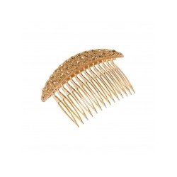 Pico Diamond Hair Comb Gold