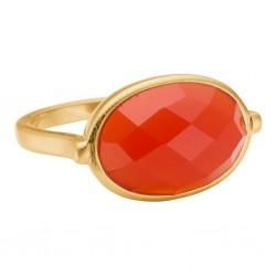 Enamel Ring Precious Gold Camelian