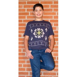 Isaksen Design Boys  Rikko Top (tattoo/avittat) Navy Blue