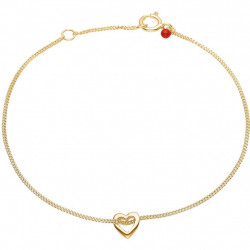 Enamel Bracelet Heart Ruby Gold