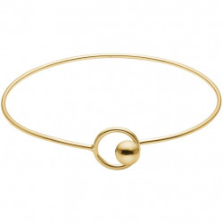 Enamel Bracelet Gold Lock Bangle
