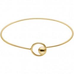 Enamel Bracelet Gold Lock Bangle