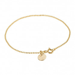 Enamel Bracelet Ball Chain Gold