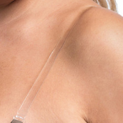 Magic Silicone Bra Straps 1cm Clear