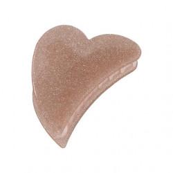 Pico Grande Heart Claw Champagne Glitter