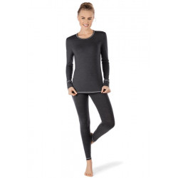 Skiny Shirt Ls Active Wool Women Anthracite Melange