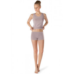 Skiny Boyleg Shorts Active Wool Women Taupe Melange