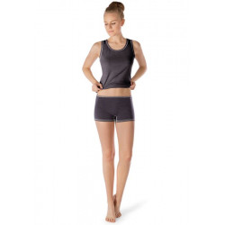 Skiny Boyleg Shorts Active Wool Women Anthracite Melange