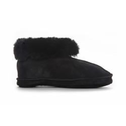 Duffy Hjemmesko 27-18003 Leather Upper Black