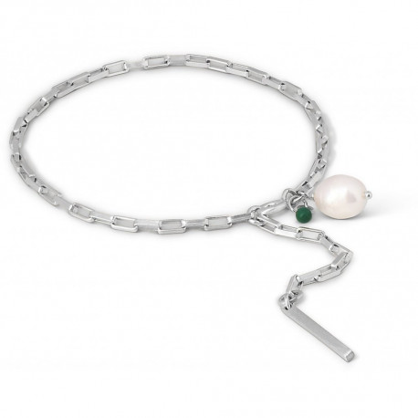 Enamel Bracelet Azra Silver