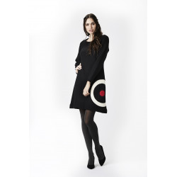 Isaksen Design Clara-Mia Dress 100% Pure New Wool Black