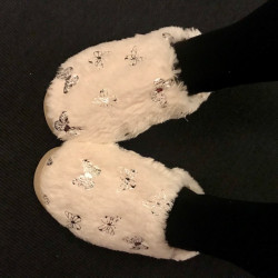 Paris Plys Slippers Råhvid
