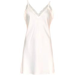 Missya Smilla Sateen Stap dress W. Lace Dusty Rose