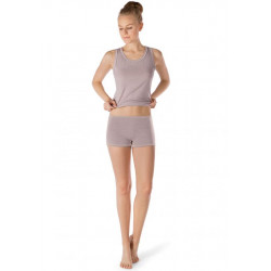 Skiny Tank Top Active Wool Women Taupe Melange