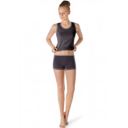 Skiny Tank Top Active Wool Women Anthracite Melange