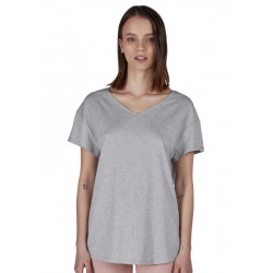 SKINY Sleep & Dream Shirt S/slv. Stone Grey Melange