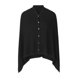 Rosemunde Poncho 1452-010 Black