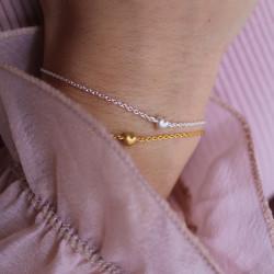 Enamel Bracelet Little Love Gold