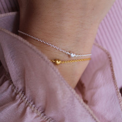 Enamel Bracelet Little Love Silver