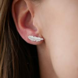 Enamel Earring Fira  Silver