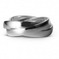 Enamel Ring Trinity Silver