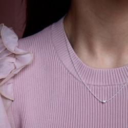 Enamel Necklace Little Love Silver