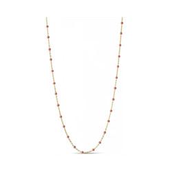 Enamel Necklace Lola Gold/Coral
