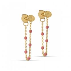Enamel Lola Earring Gold/Coral