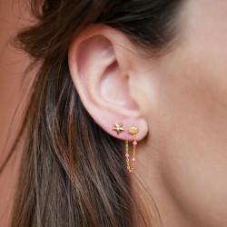 Enamel Lola Earring Gold/Light Pink