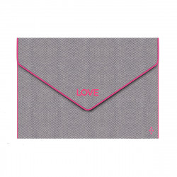 Sorbet Island LOVE Cotton Bag Grey/Neon