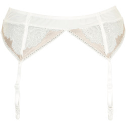 Missya Gold Suspender Belt Ivory/Rose