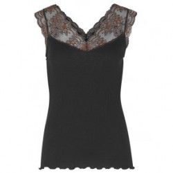 Rosemunde Silk Top 4837-010 w. Lace Black