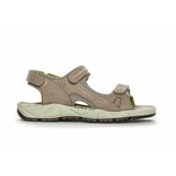 Duffy Sandal Network 31-63202 - Leather Upper +Sock - Beige