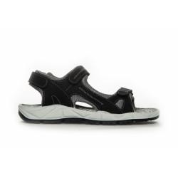 Duffy Sandal Network 31-63202 - Leather Upper +Sock - Black