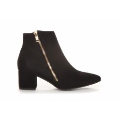 Duffy Boots Black W/Zip 97-09145 Black