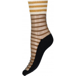 Decoy Ankel Sock Tranparet Stripe 921414-9001 Black/Brown/Gold
