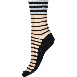Decoy Ankel Sock Tranparet Stripe 921414-9000 Black/Silver