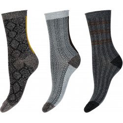 Decoy Ankel Sock 3-pack Glitter 921450-002