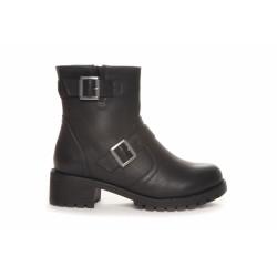 Duffy Short Biker Boots 75-08085 Black