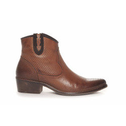 Duffy Cowboy Boots 51-00124 Cognac