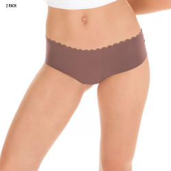 DIM Bodytouch Hipster Microfibre Stretch 2 Pack Chocolate