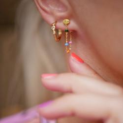 Enamel Earring Lola Gold/Dreamy