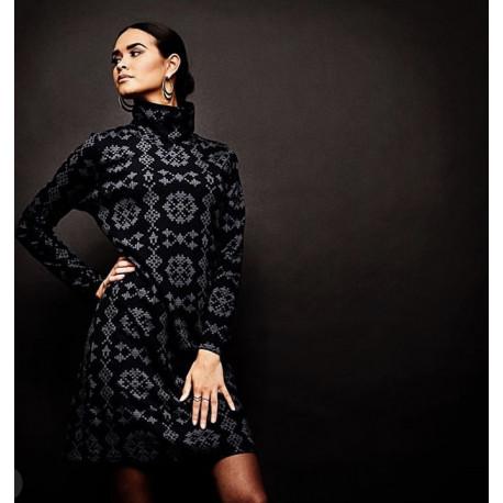 Isaksen Design Kris Alis Dress Avittat All Over Black/Grey -   Jersey : 95% viskose 5% elastan