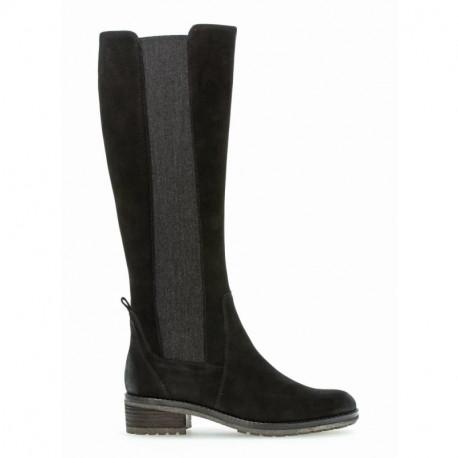 Gabor Long Boots Nubuk  51.614.17 Black