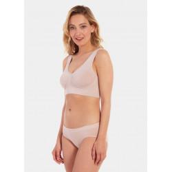 Magic Body Fashion Comfort Bra Wide Straps Bamboo Rose