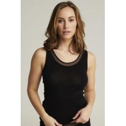 Femilet Juliana Top FN1585  100% Merino Wool Black
