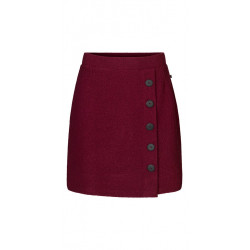 Isaksen Design Star Skirt 100% Valket Merino Uld Ruby