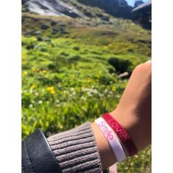 Sorbet Island LOVE Bracelet Velvet Collection Red