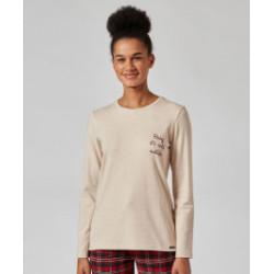 SKINY Shirt L.s Pyjama Party 5458 Beige Melange