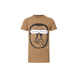 Isaksen Design Boys R-006 Top Khaki - Rasmus Lyberth Art by Isaksen